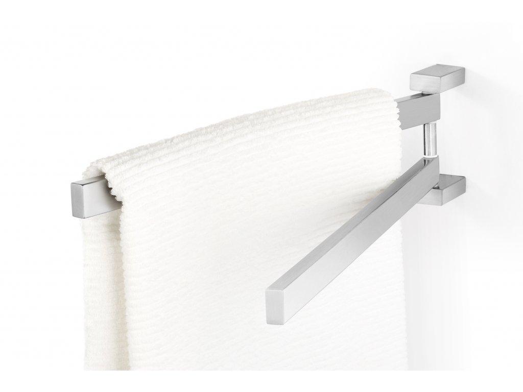 Otočný věšák na ručníky LINEA nerezový broušený ZACK