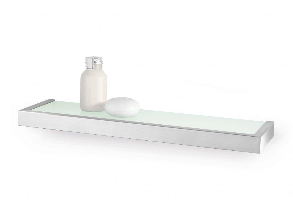 Koupelnová polička LINEA, broušený nerez, 46,5 cm ZACK