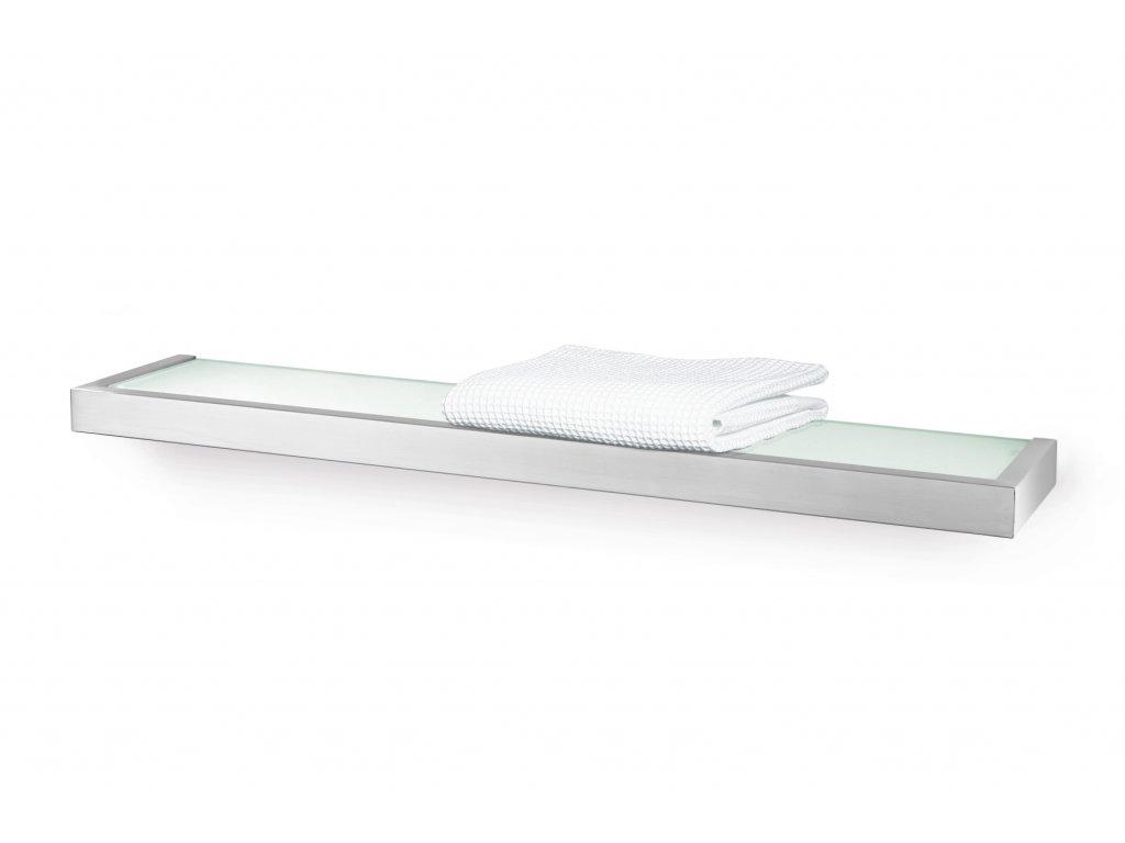 Koupelnová polička LINEA, broušený nerez, 61,5 cm ZACK