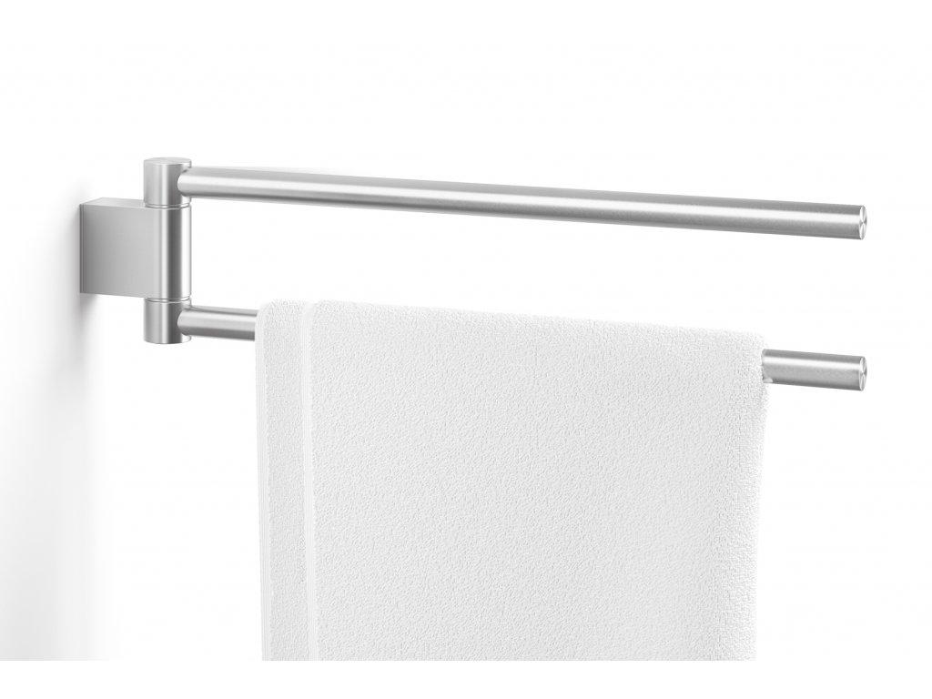 Otočný závěsný věšák na ručníky nerezový broušený ZACK