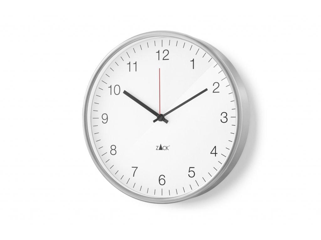 Nástěné hodiny bílé PALLA větší nerezove ZACK