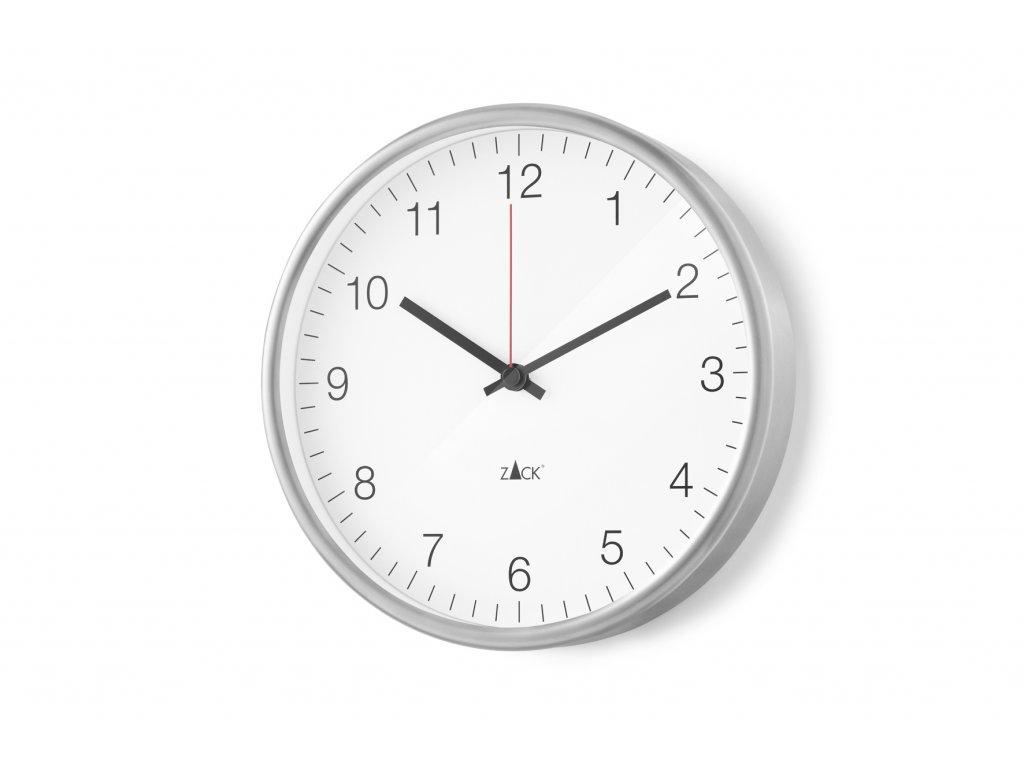 Nástěnné hodiny bílé PALLA menší nerezové ZACK