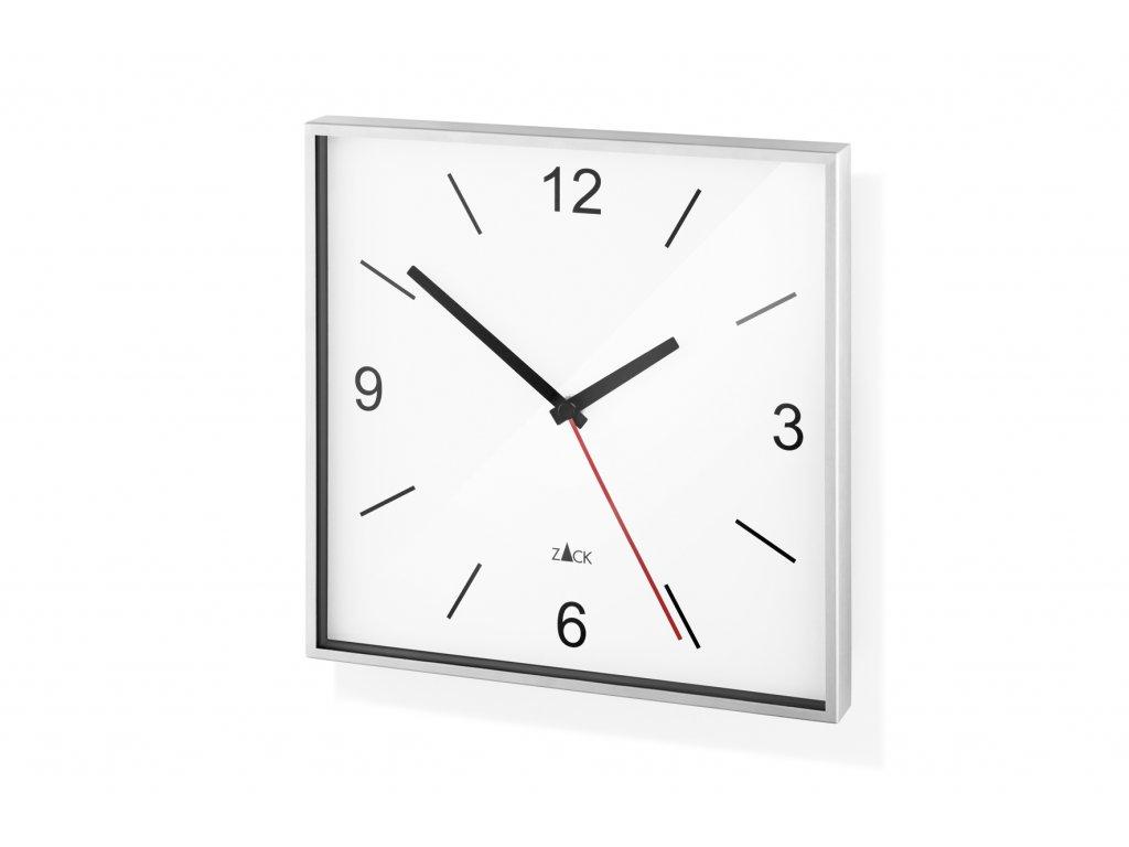 Nástěné hodiny bílé SILLAR nerez broušený ZACK