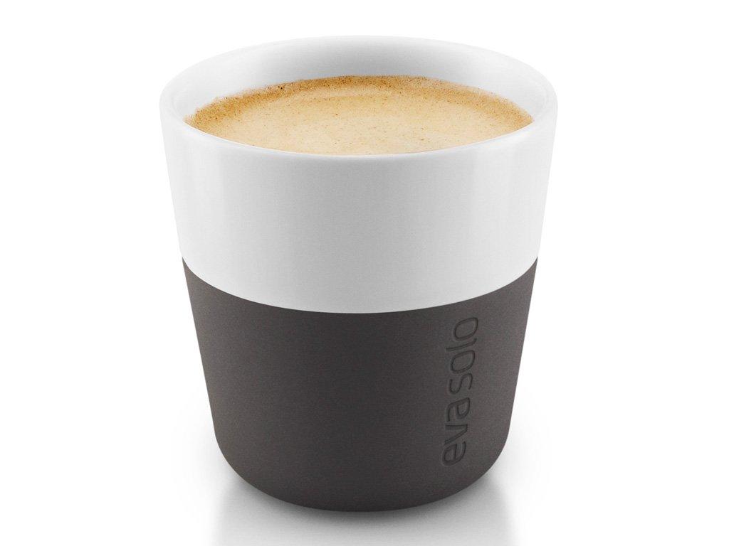 Termošálky na espresso 80 ml 2 kusy karbonově černé, Eva Solo