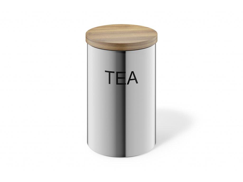 Nerezová dóza na čaj s víčkem z bambusu ZACK