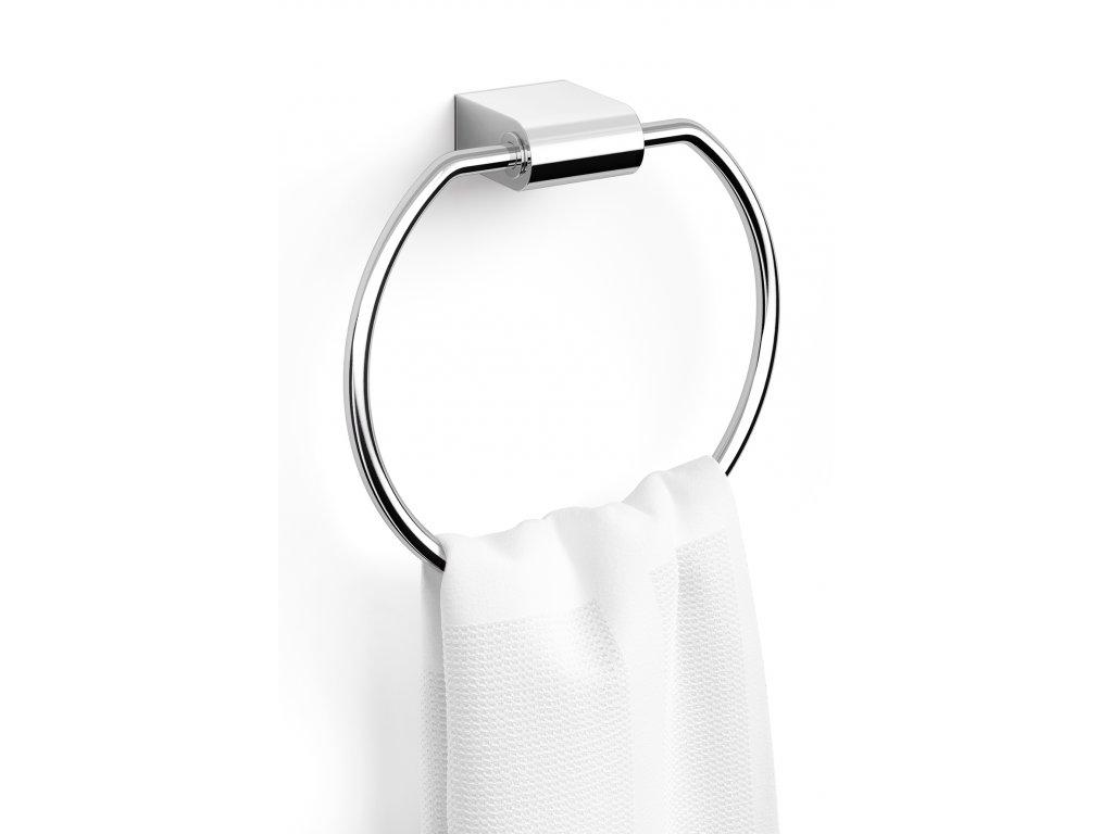 Věšák na ručníky kulatý nerezový lesklý ZACK