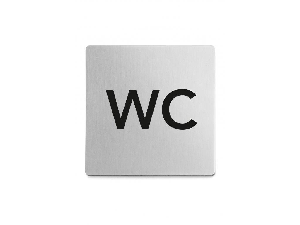 Piktogram WC samolepící broušený nerez ZACK