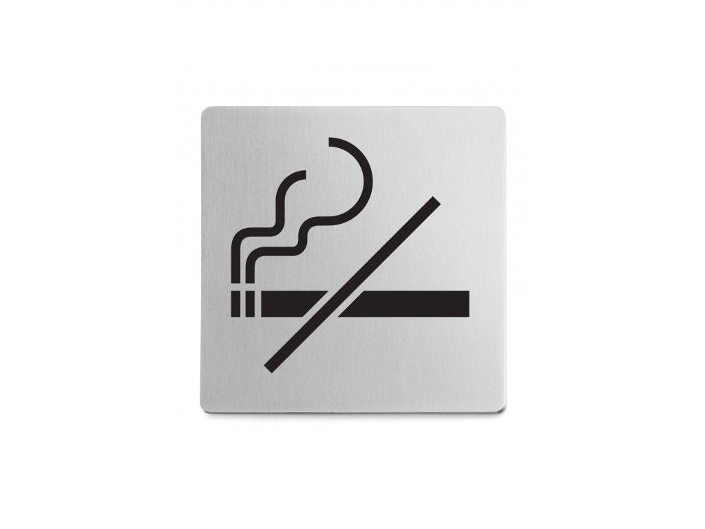 Piktogram zákaz kouření samolepící broušený nerez ZACK