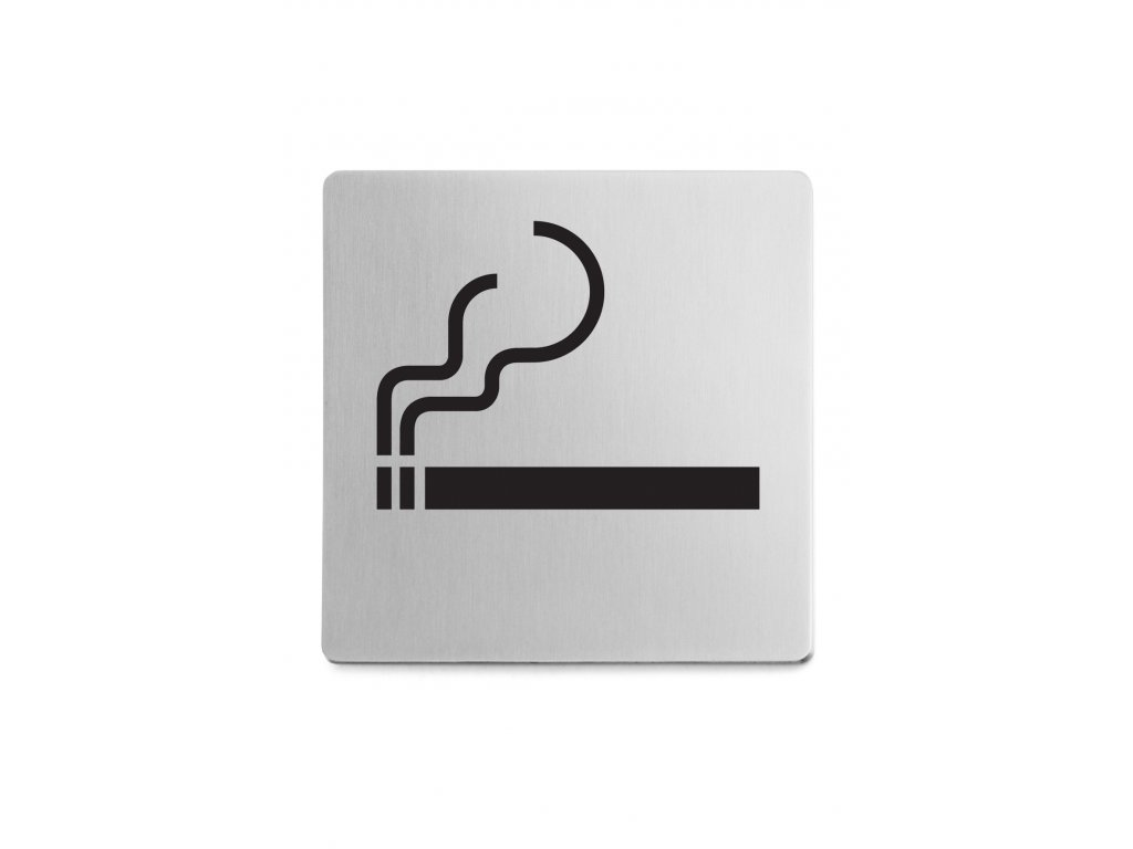 Piktogram prostor pro kouření samolepící broušený nerez ZACK