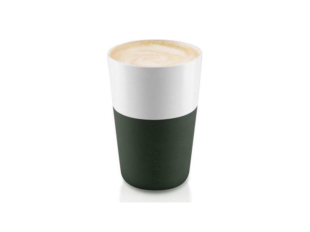 80978 hrnky na cafe latte forest green 360ml set 2ks 501057 eva solo