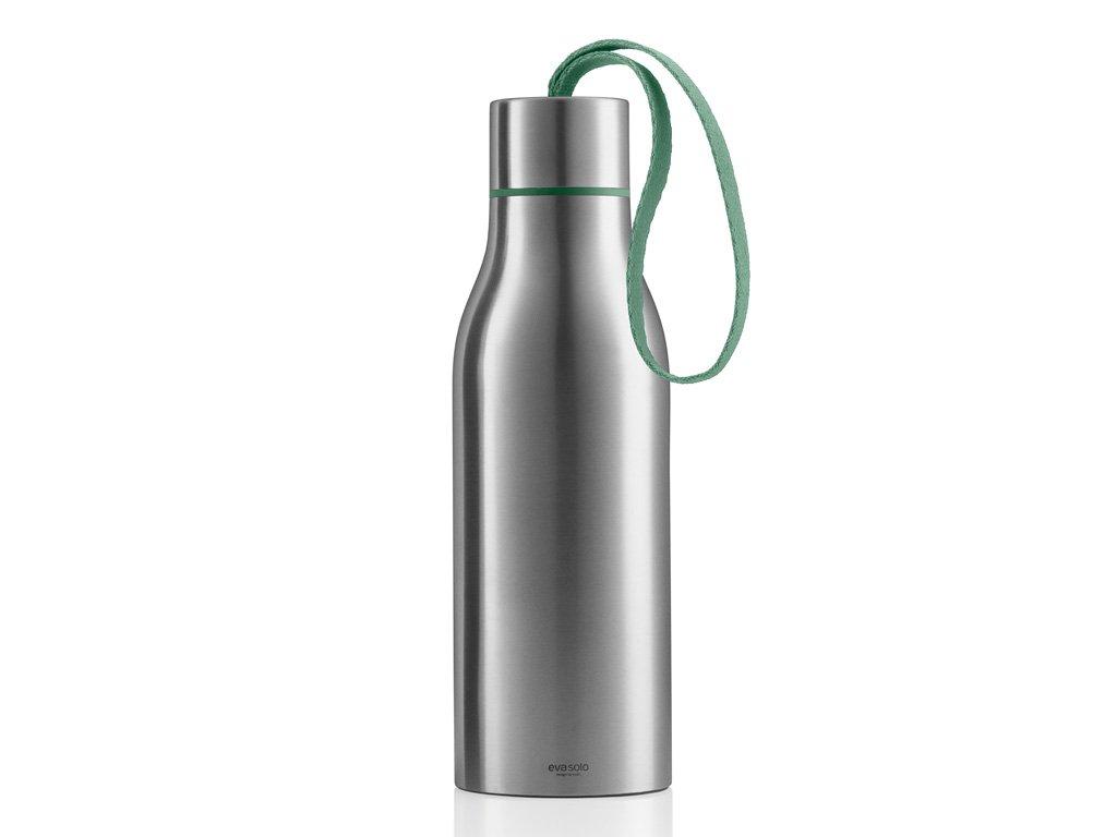 Termoizolační nápojová lahev 0,5 l s mátovým nylonovým řemínkem, Eva Solo