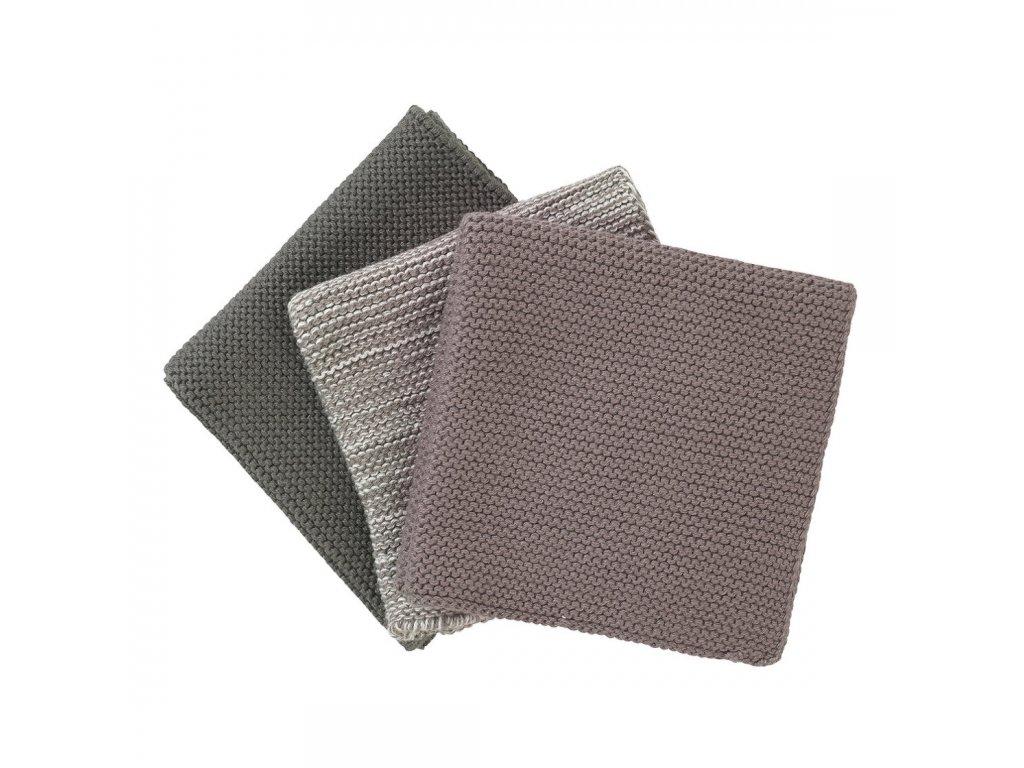 Sada 3 pletených utěrek Wipe přírodní barvy BLOMUS