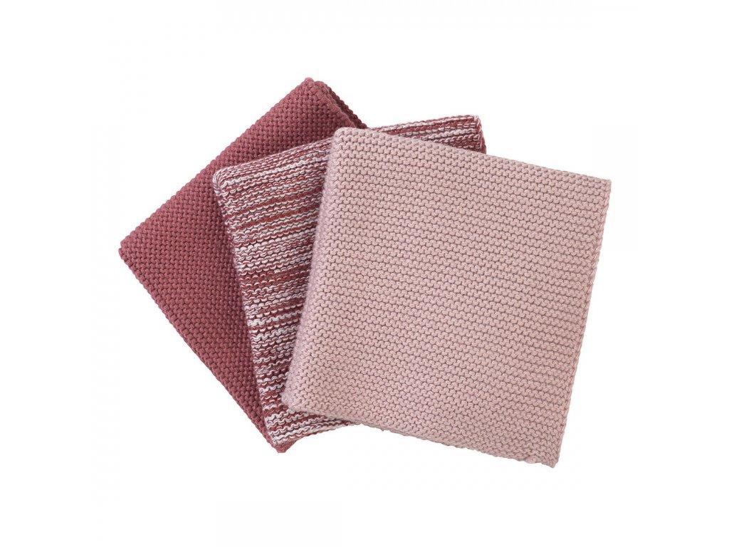 Sada 3 pletených utěrek Wipe teplé barvy BLOMUS