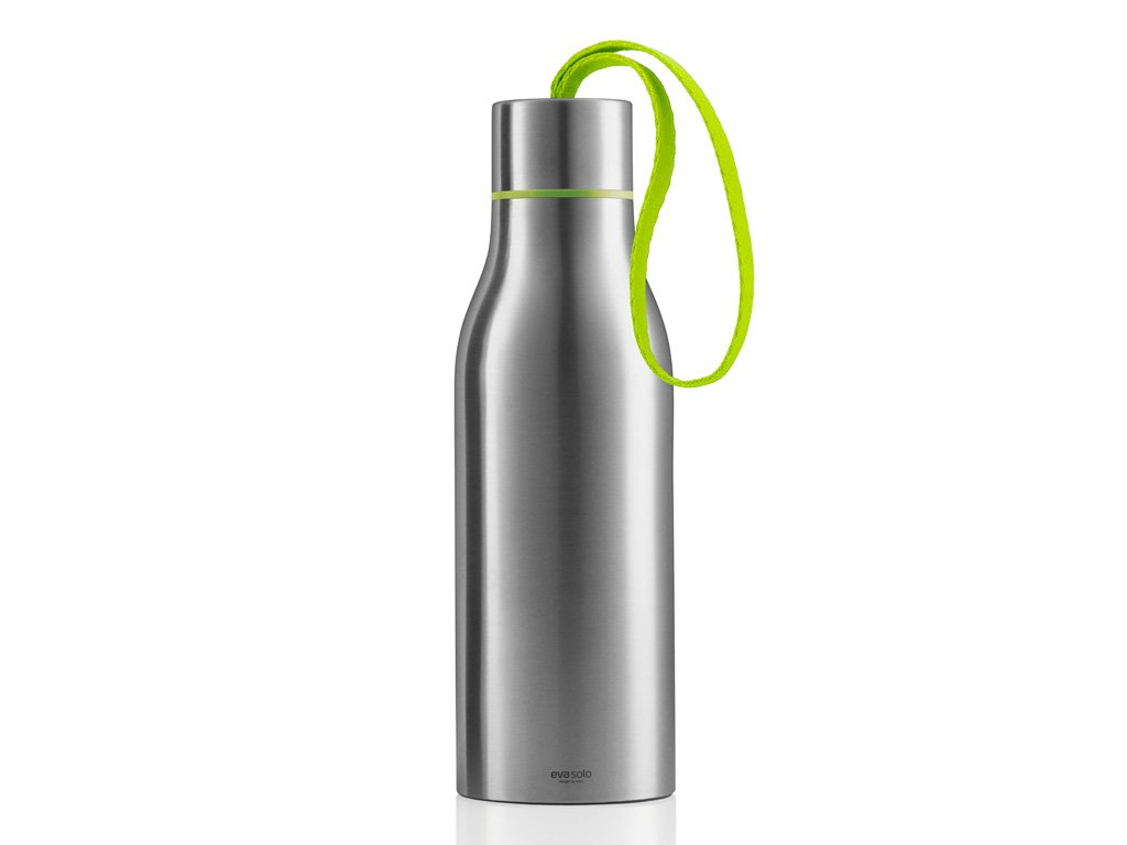 Termoizolační nápojová lahev 0,5 l s limetkovým nylonovým řemínkem, Eva Solo
