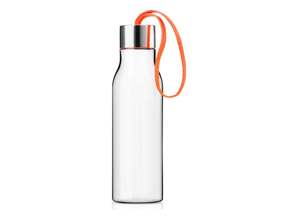 Lahev na pití 0,5 l s oranžovým řemínkem, Eva Solo
