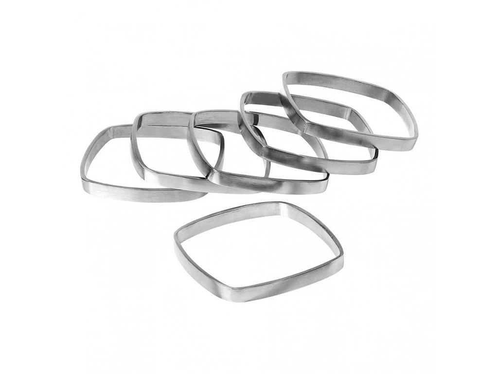 Sada 6 kroužků na ubrousky Fino stříbrné BLOMUS