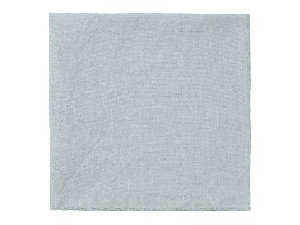 Lněný ubrousek Lineo šedobílý BLOMUS