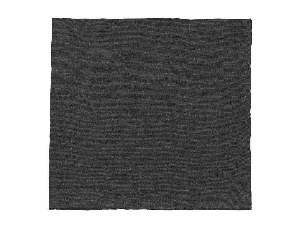 Lněný ubrousek Lineo šedočerný BLOMUS