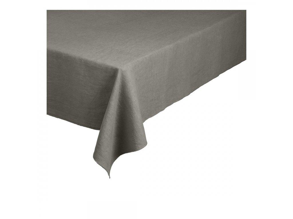 Lněný ubrus Lineo hnědozelený 160 x 300 cm BLOMUS