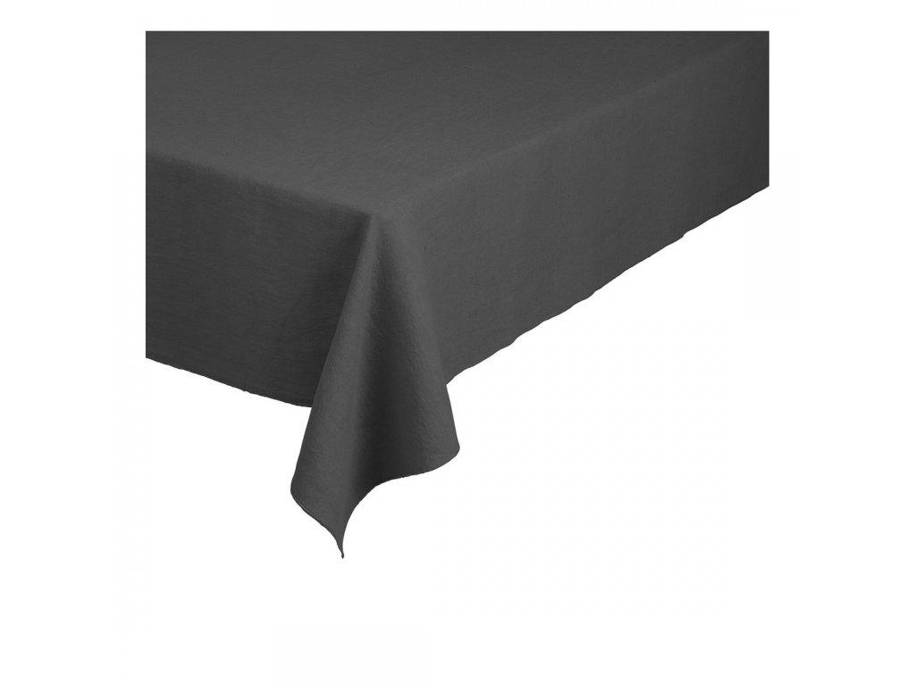 Lněný ubrus Lineo šedočerný 160 x 300 cm BLOMUS