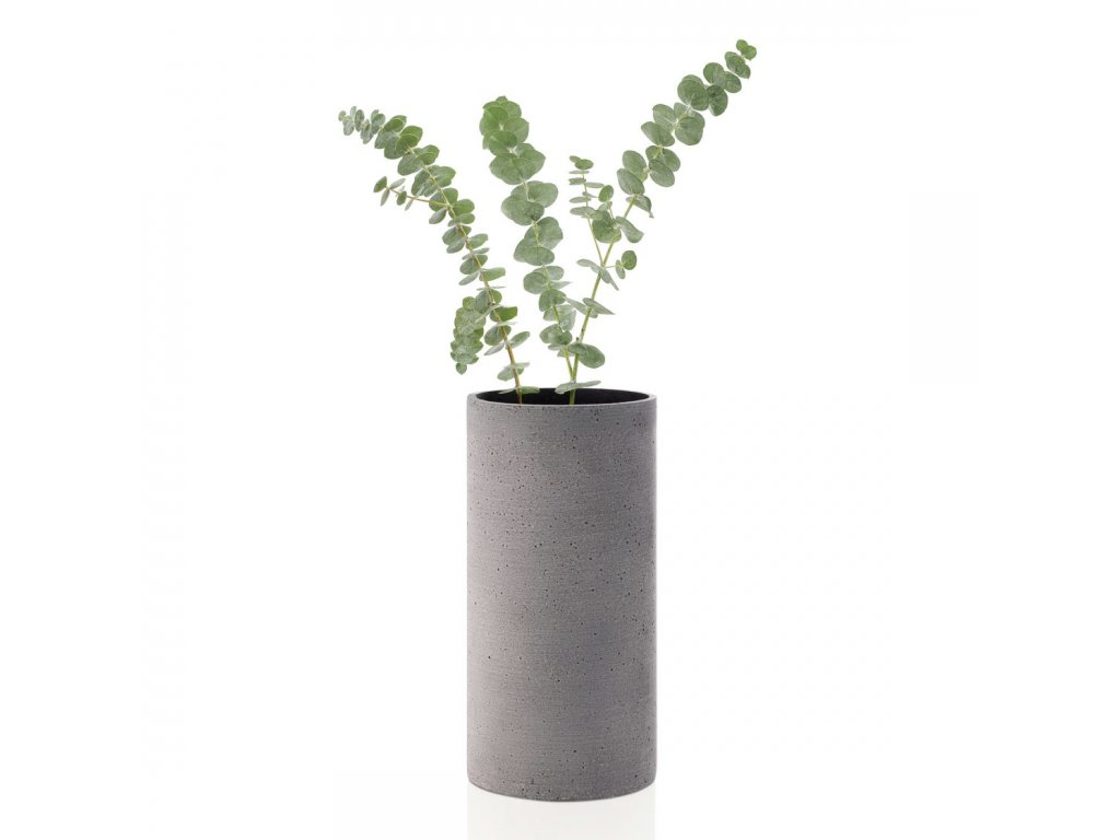 Váza Coluna velikost M tmavě šedá BLOMUS