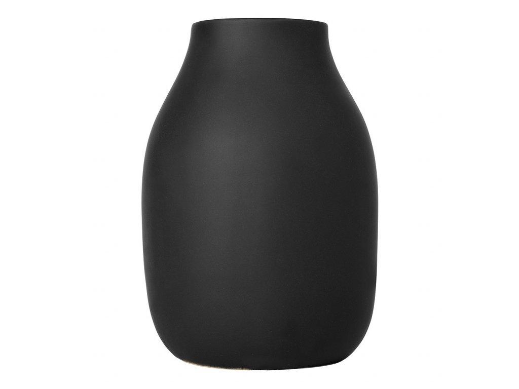 Váza COLORA černá Ø 14 cm BLOMUS