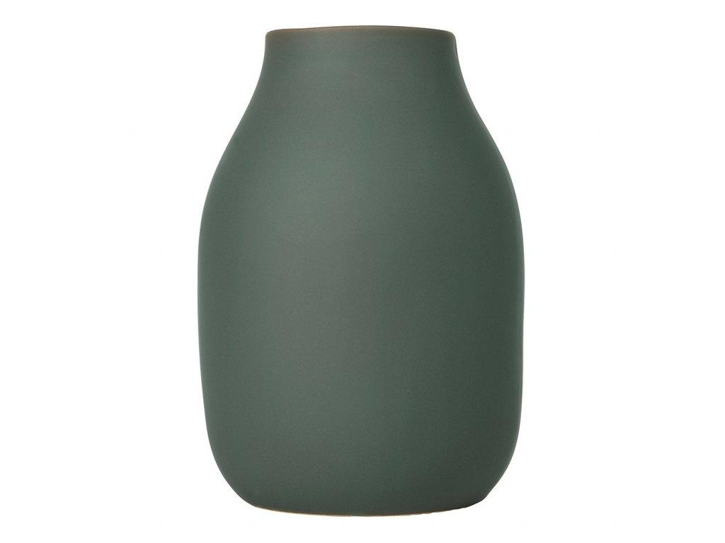 Váza COLORA khaki Ø 14 cm BLOMUS