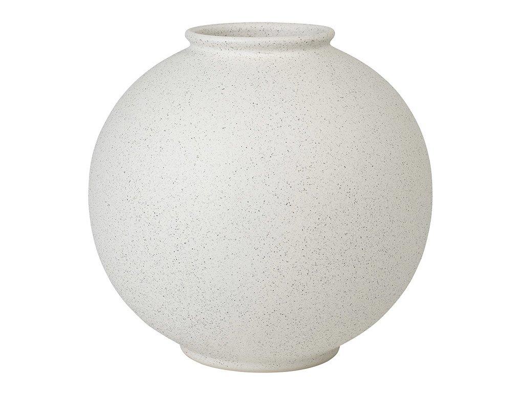 Váza RUDEA bílá Ø 22,5 cm BLOMUS