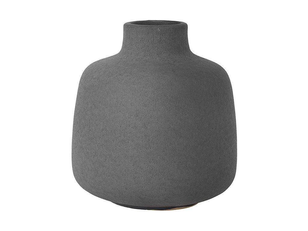 Váza RUDEA šedočerná Ø 12 cm BLOMUS