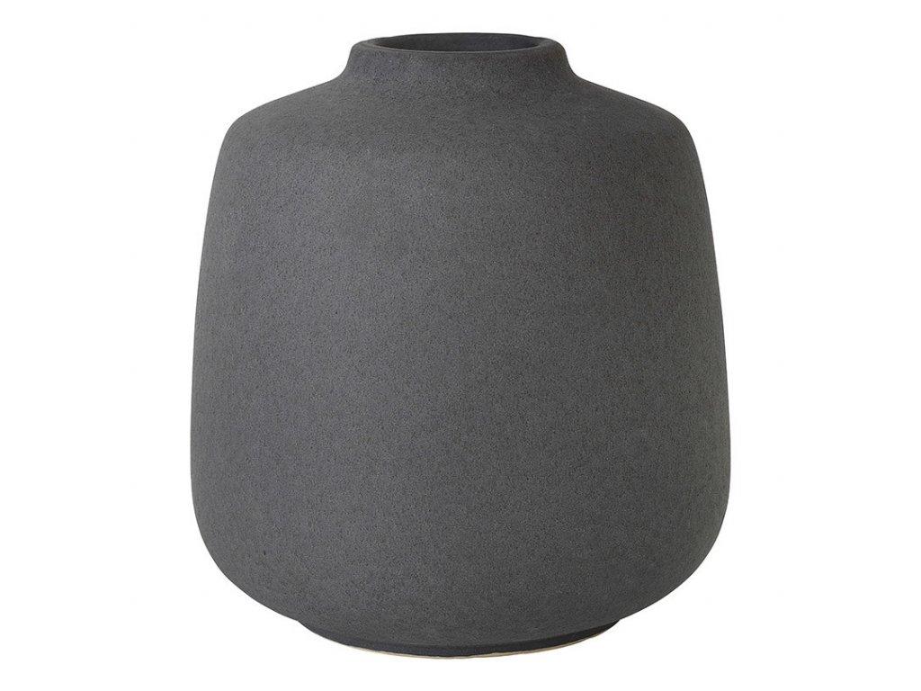 Váza RUDEA šedočerná Ø 16,5 cm BLOMUS