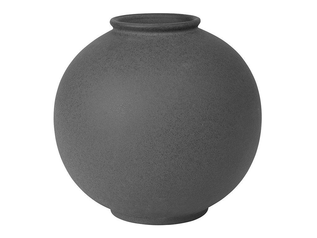 Váza RUDEA šedočerná Ø 22,5 cm BLOMUS