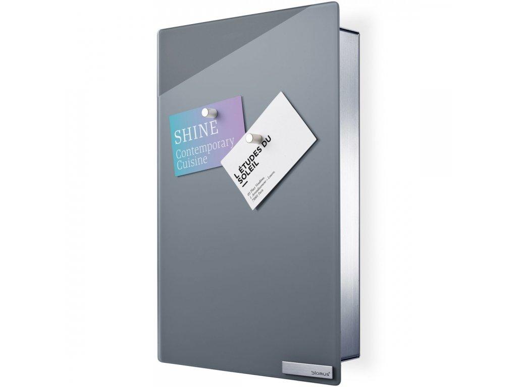 Skříňka na klíče s magnetickými dvířky VELIO šedá 30 x 20 cm BLOMUS
