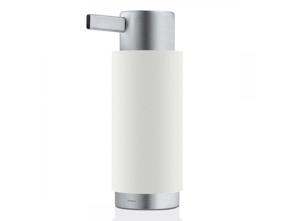 Dávkovač tekutého mýdla ARA matný nerez/bílá BLOMUS