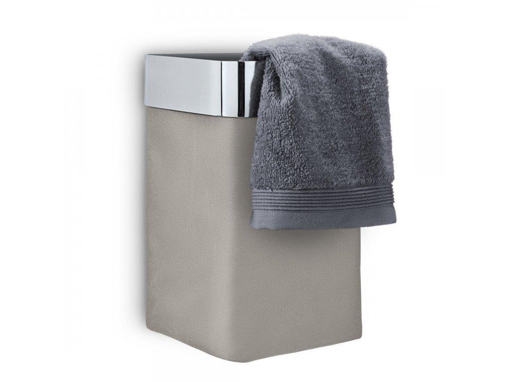 Nástěnný koš na ručníky NEXIO leštěný taupe BLOMUS