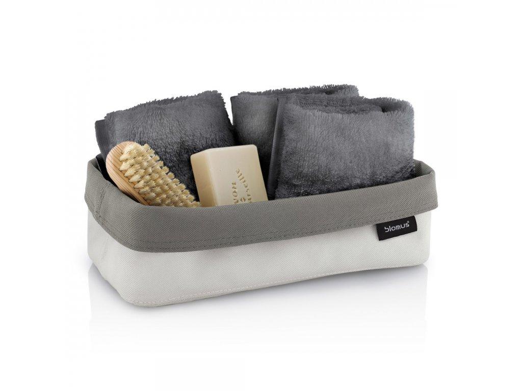 Oboustranný košík na kosmetické potřeby ARA velký pískový/šedohnědý BLOMUS