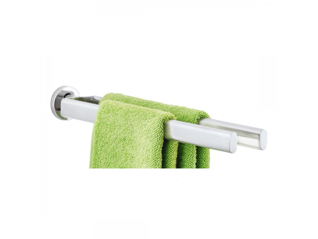 Dvouramenný věšák na ručníky AREO matný nerez 46 cm BLOMUS