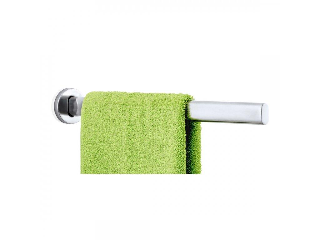 Jednoramenný věšák na ručníky AREO matný nerez 46 cm BLOMUS