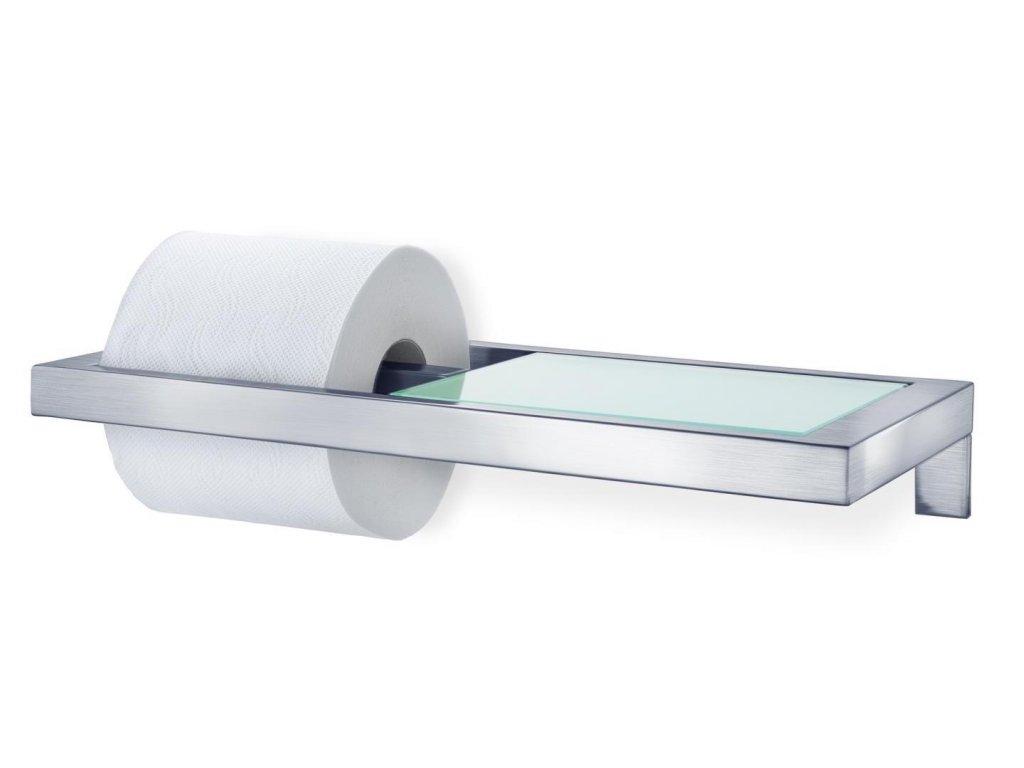 Držák na toaletní papír MENOTO matný nerez/sklo BLOMUS
