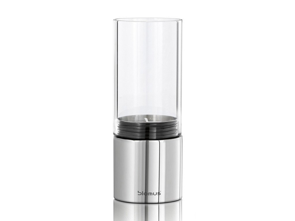 Svícen sklo FARO leštěný nerez Ø 7 cm BLOMUS