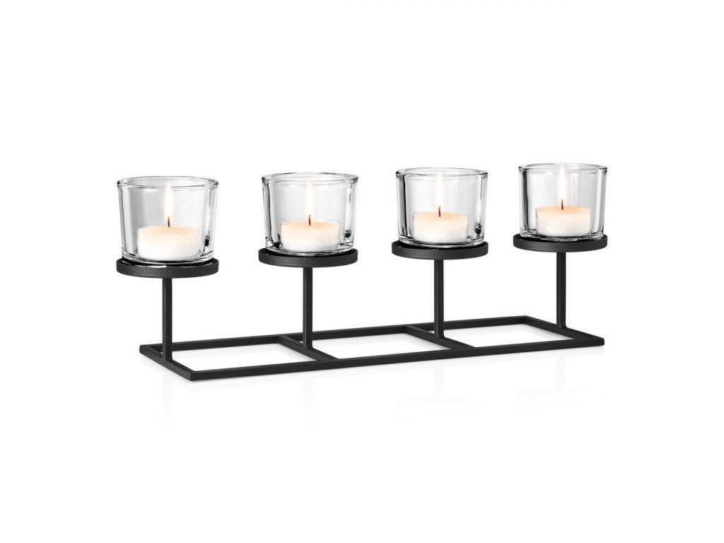 Svícen na 4 svíčky v nordickém stylu NERO BLOMUS