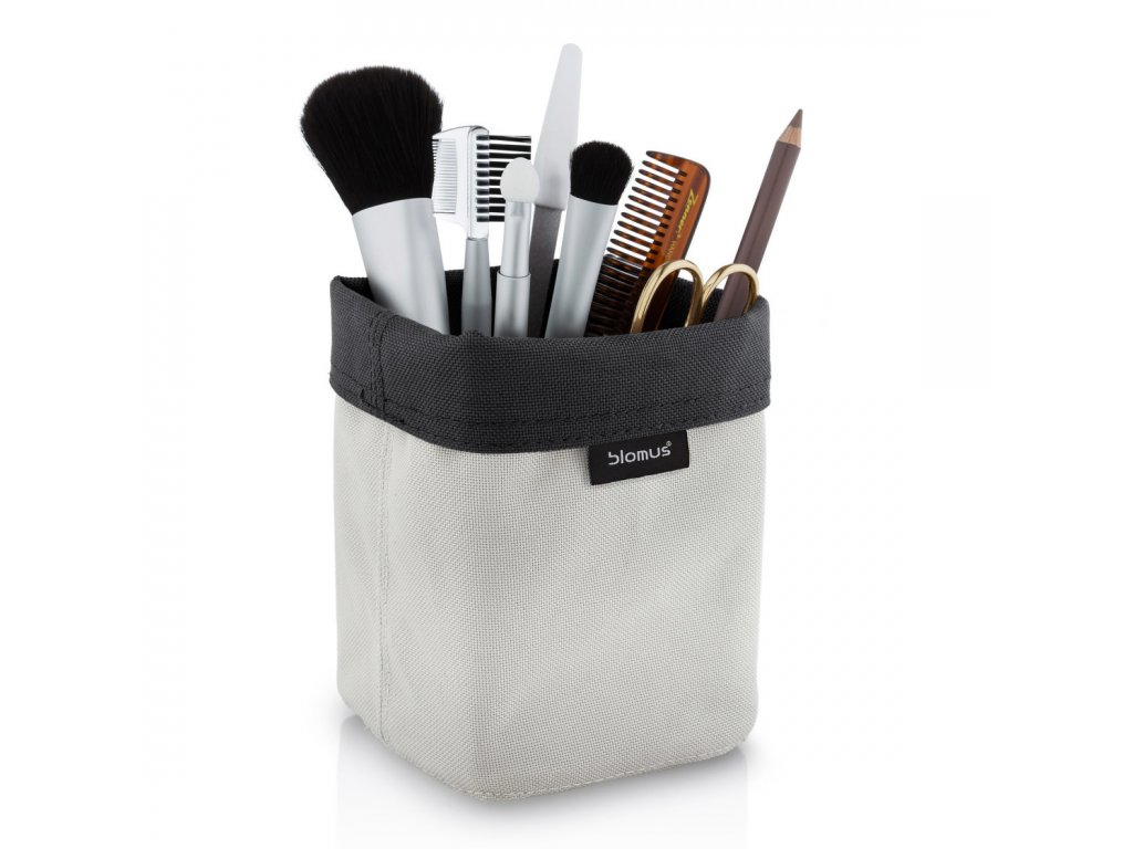 Oboustranný košík na kosmetické potřeby ARA malý pískový/antracitový BLOMUS