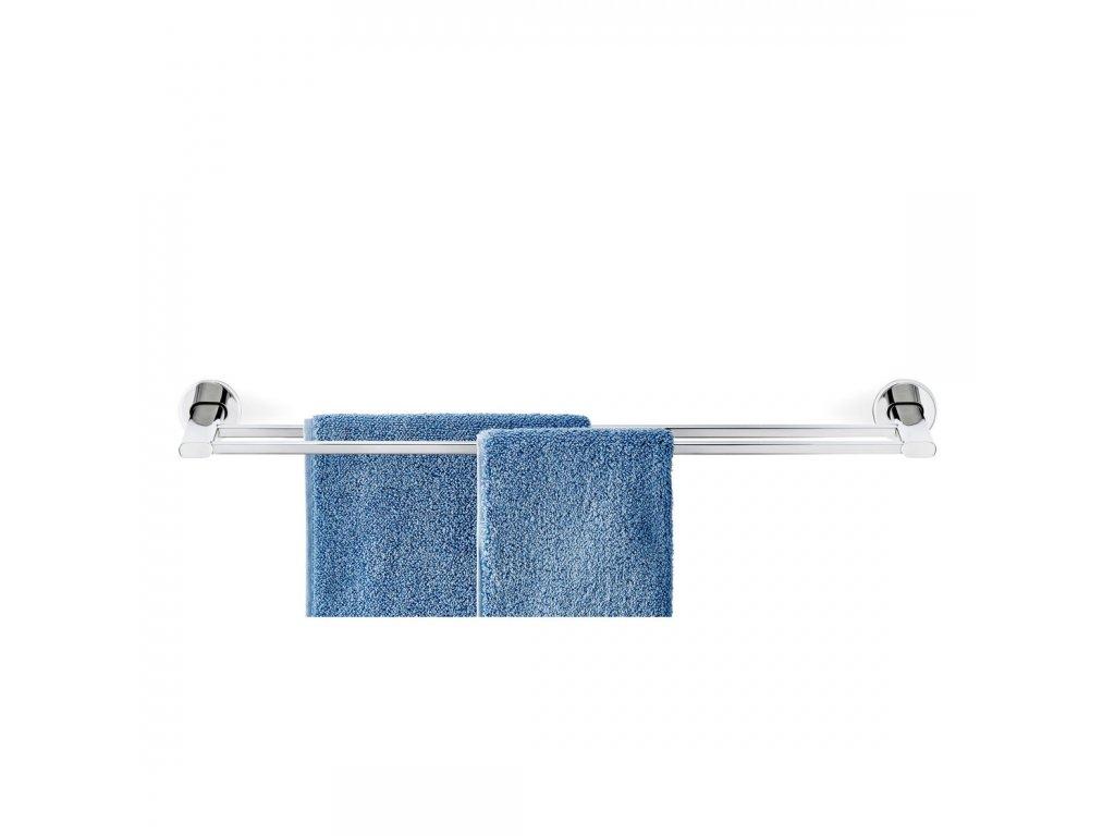 Dvojitý věšák na ručníky AREO leštěný nerez BLOMUS