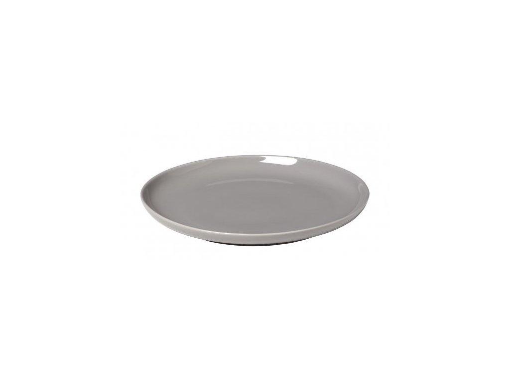 servírovací talíř porcelánový šedý RO BLOMUS