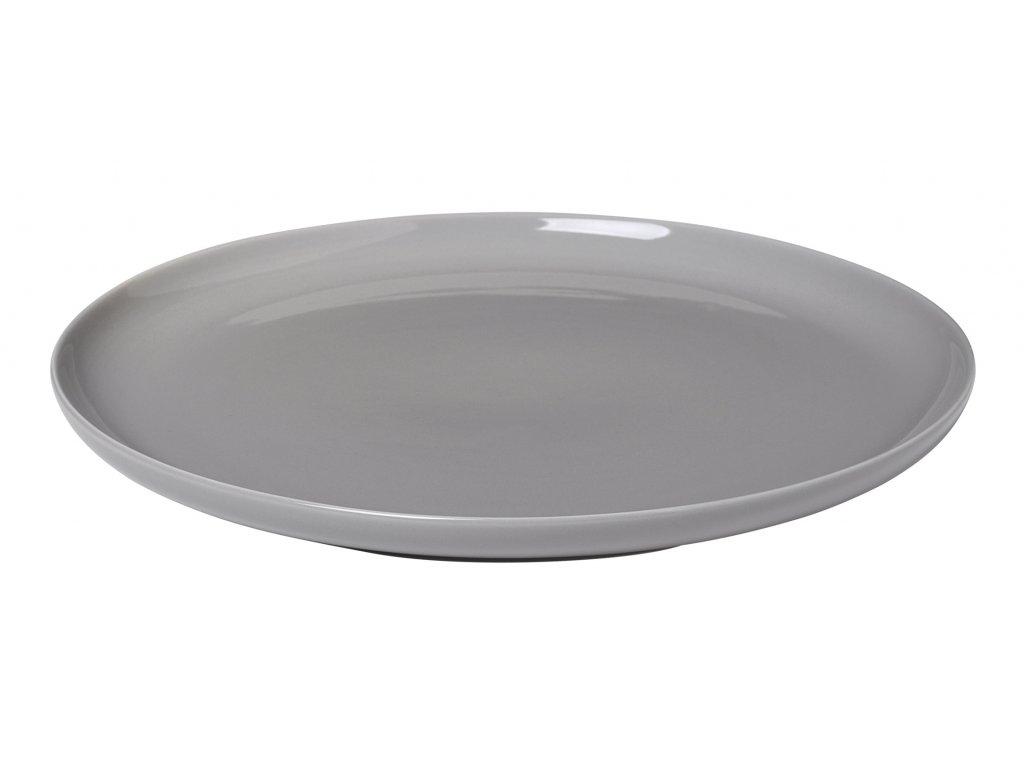 mělký talíř porcelánový šedý RO BLOMUS