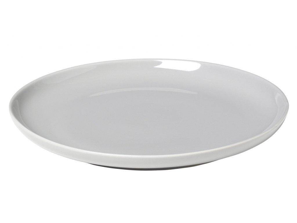 servírovací talíř porcelánový světle šedý RO BLOMUS
