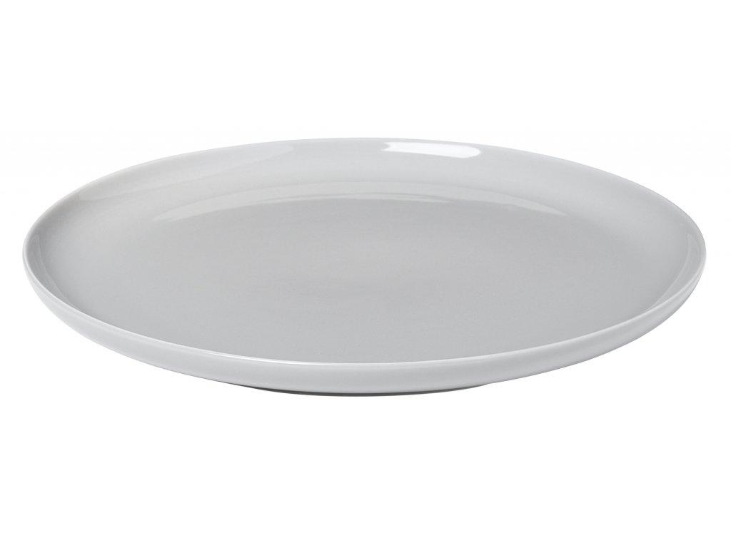 mělký talíř porcelánový světle šedý RO BLOMUS