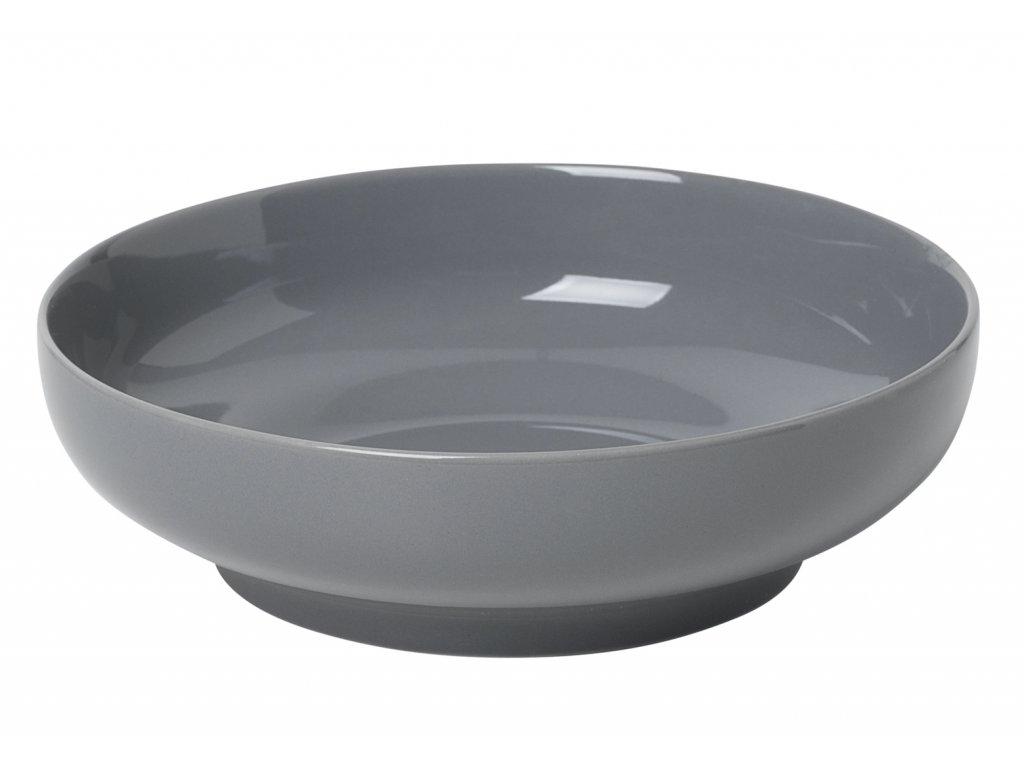 miska porcelánová polochá tmavě šedá RO BLOMUS