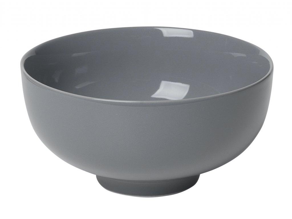miska porcelánová velká tmavě šedá RO BLOMUS