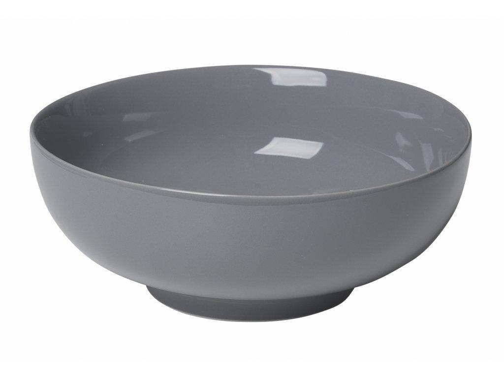 miska porcelánová velká plochá tmavě šedá RO BLOMUS