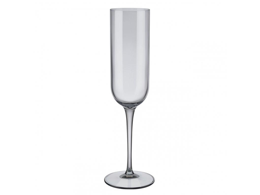 set 4 skleniček na šampaňské kouřové FUUM BLOMUS
